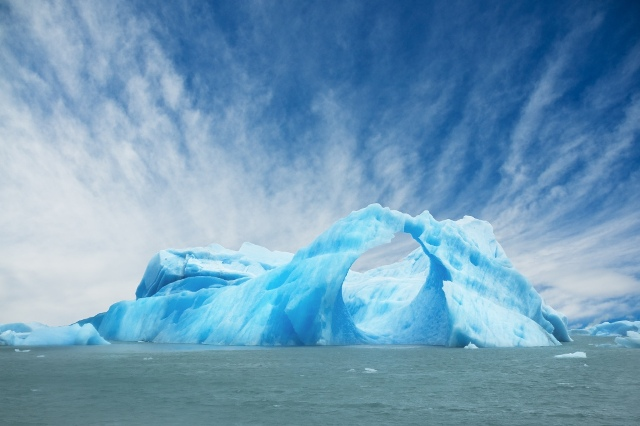An iceberg in el calafate Argentina