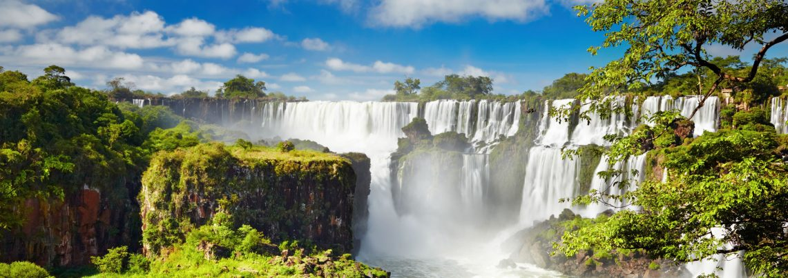 A photo of iguazu falls