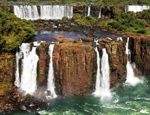 Where are the Iguazu Falls