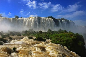 Where are the Iguazu Falls