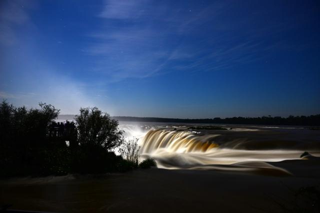 Iguazu falls at dusk