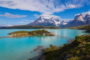 Beautiful lakes at Torres del Paine Chile