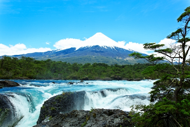 A waterfall at Puerto Varas Chile
