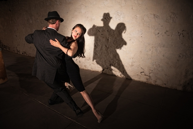 Two Tango Dancers Dancing in Argentina