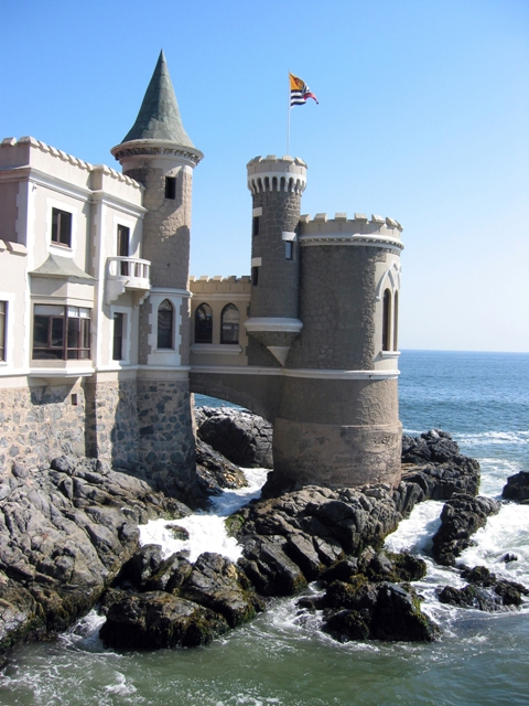 A castle on the coast of Vina del Mar Chile