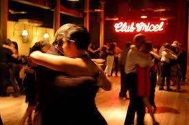 milonga tango dancers in Buenos Aires Argentina