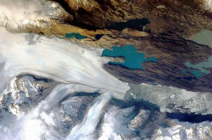 the Upsala Glacier, Argentina from Space